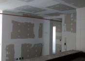 06/12/18 - Vista da execução do drywall na torre D