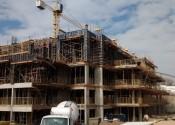 17/06/19 - Vista durante a execução da estrutura do 1º andar na projeção da torre