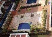 02/08/19 – Vista superior da passarela, piscinas adulto e infantil