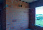 18/11/19 - Vista da alvenaria externa do 13° pavimento.