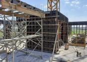 18/11/19 - Vista da execução da estrutura de pilares do 20° pavimento.