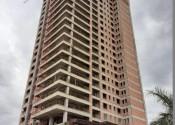 14/05/20 - Vista da torre durante a execução da estrutura de pilares do 25° pavimento.