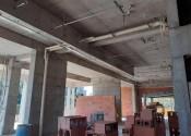 30/06/20 – Detalhe da instalação e alvenaria no térreo.