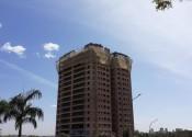 30/06/20 – Vista da torre durante a execução dos pilares do 18º andar.