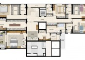 Planta Apartamento Triplex  Pavimento Inferior