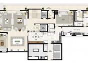 Planta Apartamento Triplex  Pavimento Intermediário