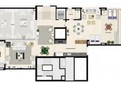 Planta Apartamento Triplex  Pavimento Superior