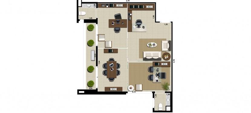 Advocacia 57,64 m²