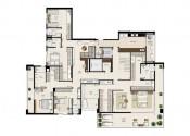 Planta Apartamento Duplex Pavimento Inferior