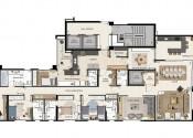 Planta  Apartamento Opção