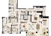 Planta  Apartamento Tipo